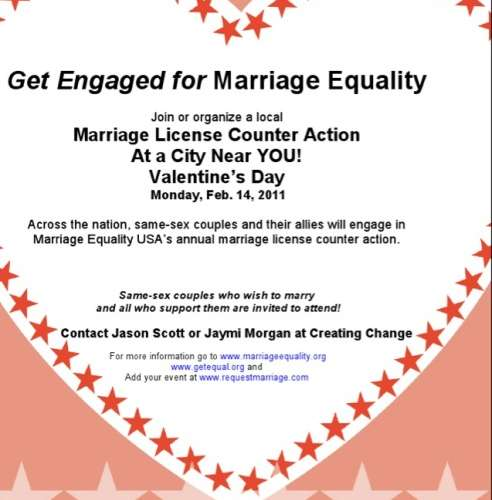 Join The Valentine's Day National Marriage Equality Protest