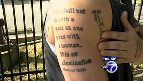 Awful Tattoo Of The Day: Leviticus Edition