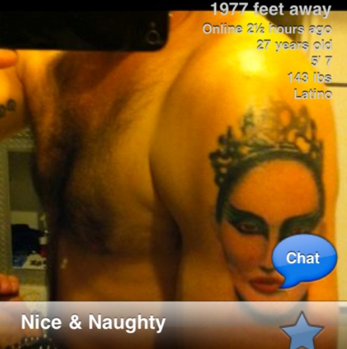 Awful Tattoo Of The Day: Grindr Black Swan