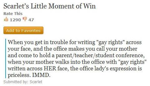 immd, gay rights, gay blog, gay news, principal's office, forehead