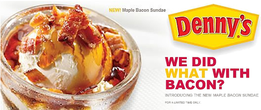 Denny's Makes America Fatter With Maple Bacon Sundae
