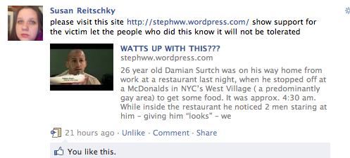 gay blog: gay bashing, attack, nyc, west village, damian furtch