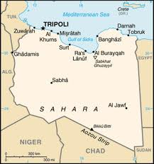 Gay blog: A map of Libya