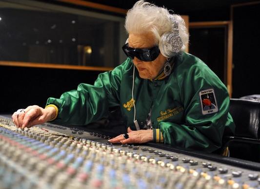DJ Mamy Rock sets up her tunes