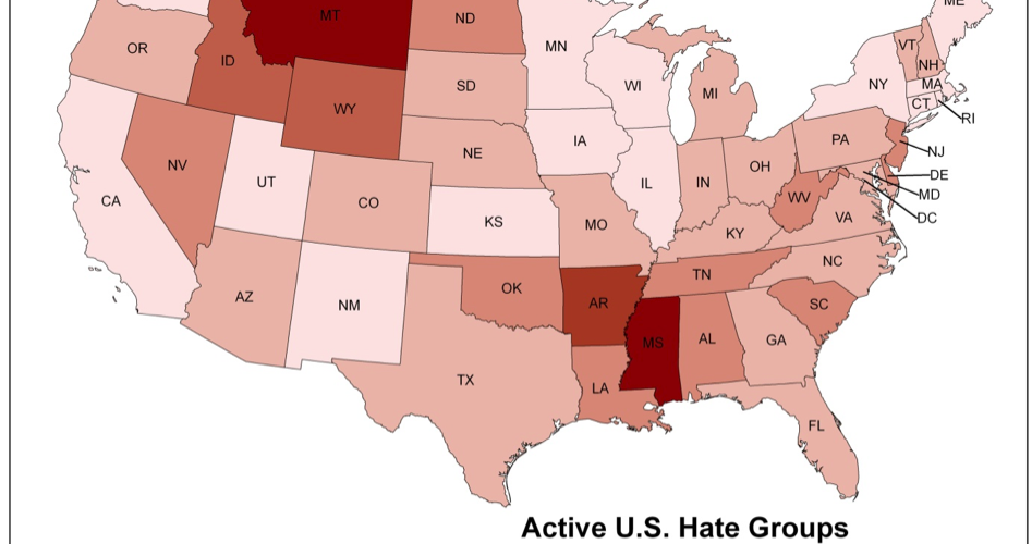 United States of Hate Groups Infographic