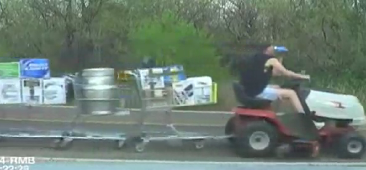 shopping cart, beer, police cam, omgwtflol