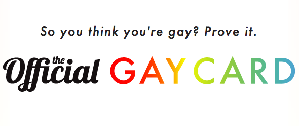 official gay card, gay card score, how gay are you, gay card quiz, how gay are you quiz