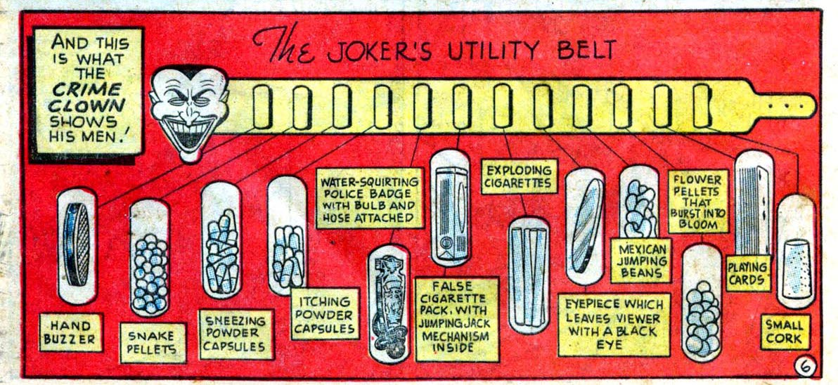 batman, the joker utility belt, batman utility belt, batman vs. joker