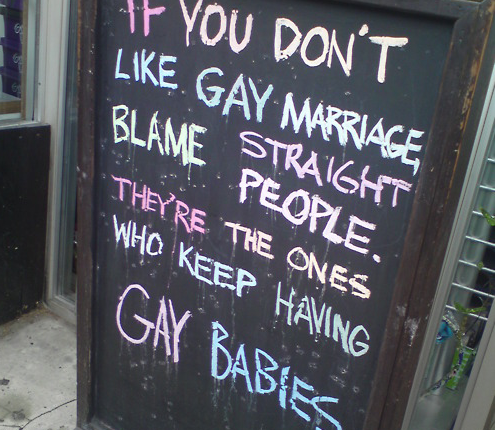 'If You Don't Like Gay Marriage, Blame Straight People'