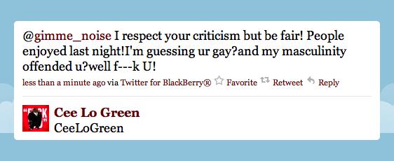 cee lo anti-gay, cee lo homophobic, cee lo gay twitter, cee lo gay tweet, cee lo homophobic tweet