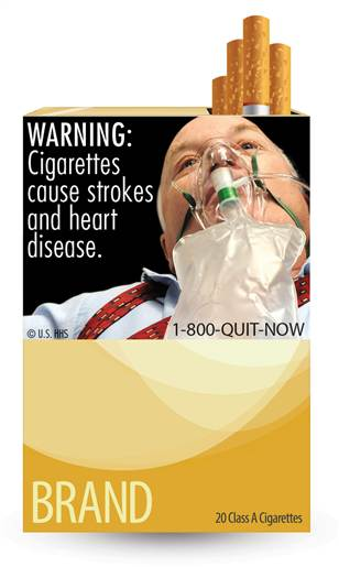 cigarette warning label breathing bag, cigarette label oxygen mask, cigarette label respirator