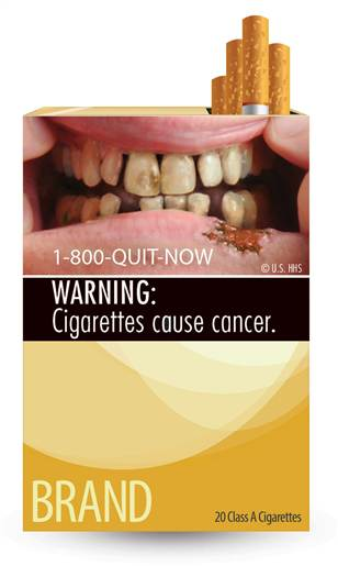 cigarette label mouth cancer, cigarette label teeth
