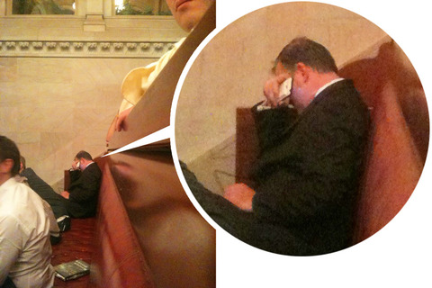 NOM Leader Brian Brown Photographed Crying Over NY Marriage Equality