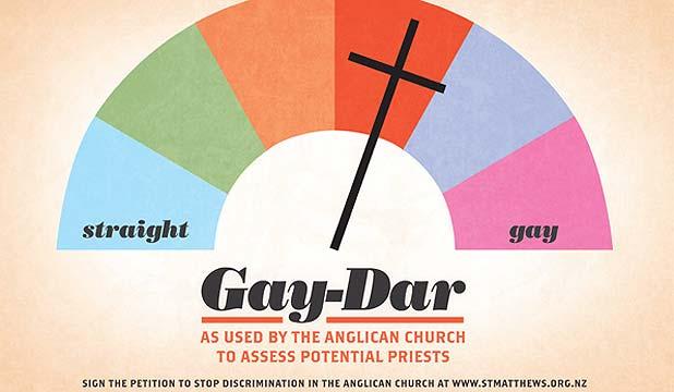 Kiwi Church's Gay-Dar Vandalized!