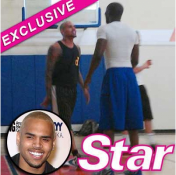 Chris Brown's Homophobic Meltdown At Basketball Game