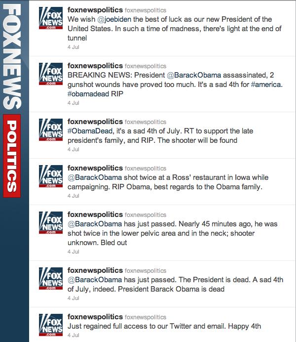 fox news obama assassinated, obama assassinated, obama assassinated twitter, fox news twitter assassination