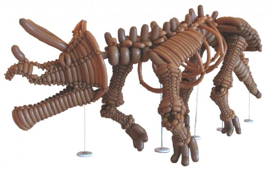 life-size balloon tricerotops, balloon tricerotops, balloon dinosaur