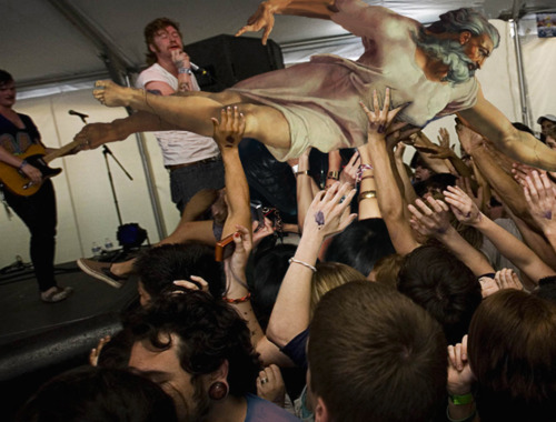 where is he now, we found god, where is god, god crowdsurfing