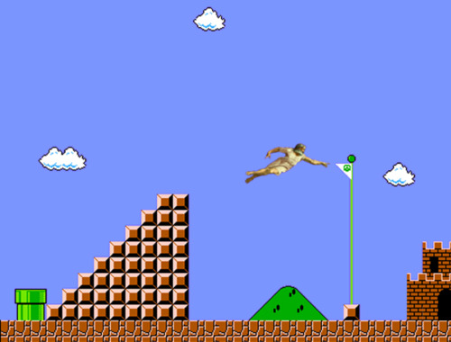 where is he now, we found god, where is god, god mario bros.