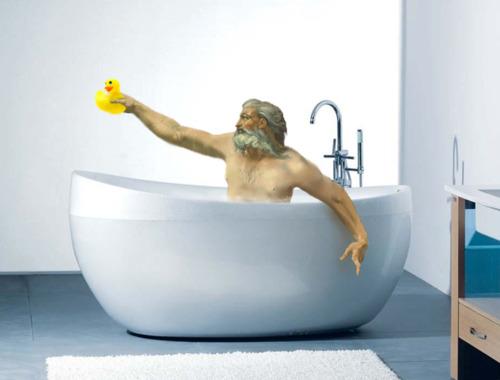 where is he now, we found god, where is god, god bathtub, god bath