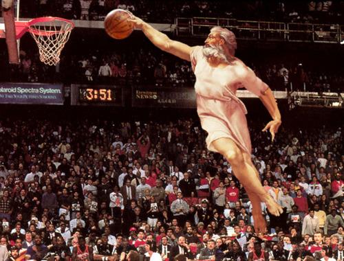 where is he now, we found god, where is god, god slam dunk, god basketball