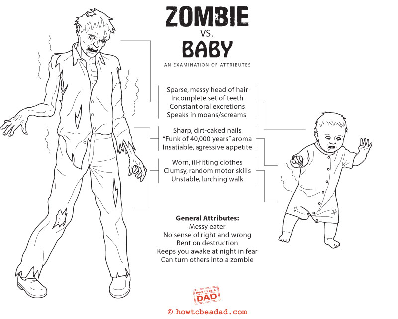 Zombie vs. Baby: An Examination of Attributes
