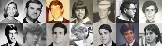School Photos of the 14 U.S. Presidential Candidates