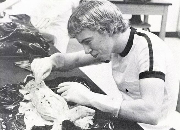 Rand Paul dissecting a cat, the same way he's gonna dissect wasteful spending out of our congressional budget.