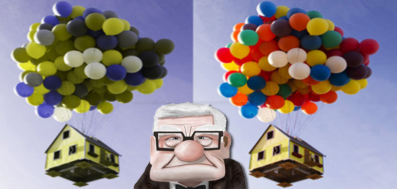colorblind, carl, up, balloons, house, colorblindness