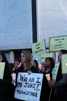 More Activists from Ash Wednesday demonstration at St. Mary's. (via John Bare @JBinSFO)