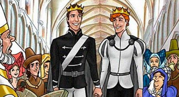 disney gay kiss princes