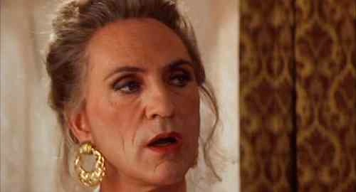 "Terence Stamp as the kick-ass trans drag queen in ""The Adventures of Priscilla, Queen of the Desert"""