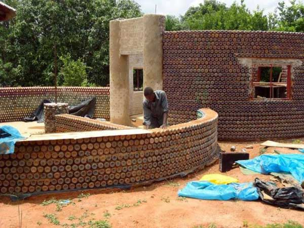 This two-bedroom house in Nigeria was made out of 14,000 plastic bottles filled with sand and then mortared together with mud and cement. Once completed, the house was reportedly bulletproof, fireproof and earthquake-resistant with a comfortable year-round temperature of 64 degrees Fahrenheit.