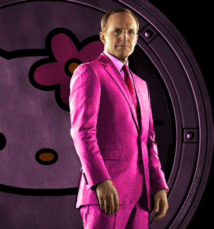 Agent Colson, The Avengers, pink, Hello Kitty