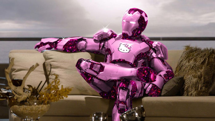 Iron Man, The Avengers, pink, Hello Kitty