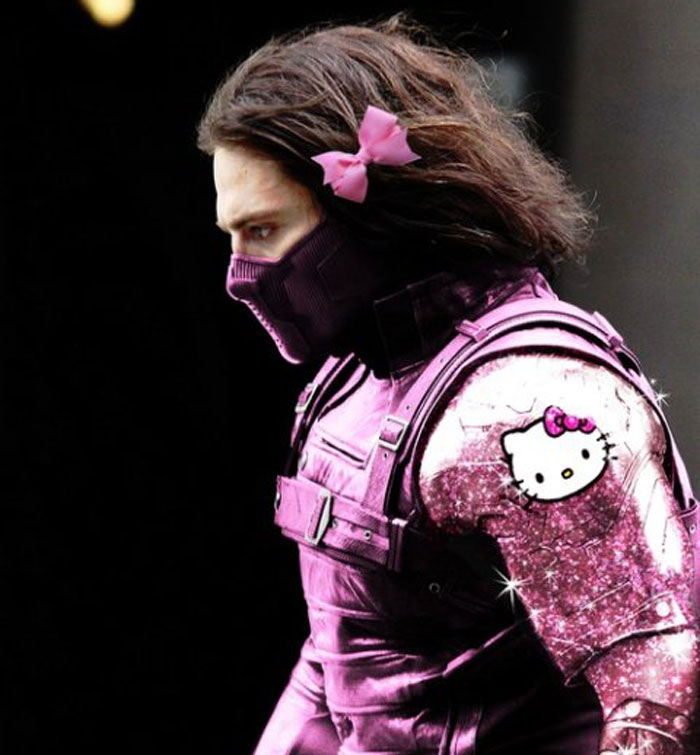 Winter Soldier, The Avengers, pink, Hello Kitty