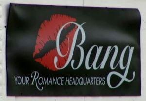 Bang, sex store, kansas, bankrupt, your romance headquarters, sign
