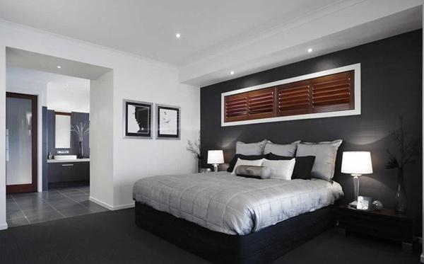 bedroom, manly, black, grey, white, men, men's, male, lamps, depressing
