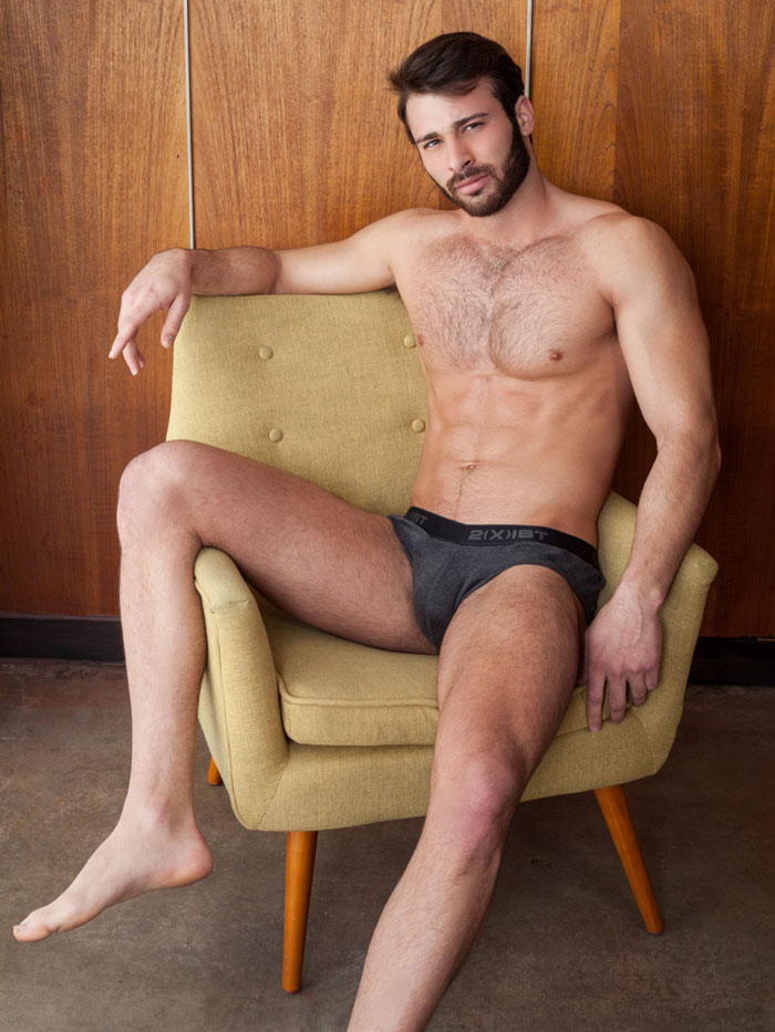 Jarec Wentworth, Teofil Brank, gay porn star, actor, performer, homosexual, adult film, Randy Blue, Men.com, hairy, muscular, handsome, man