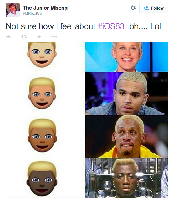 new emoji controvery, racist emoji ios 8.3, new racist emojis