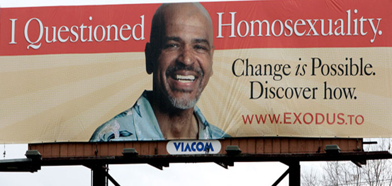 conversion therapy, ex-gay therapy, reparative therapy, billboard, advertisement