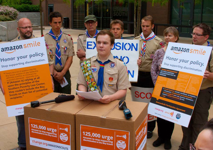 Pascal Tessier, boy scouts of america, ban, New York, protest, BSA