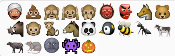 dark faced emoji, emojicons, emoticons, Apple iOS, race, racist, black, African-American