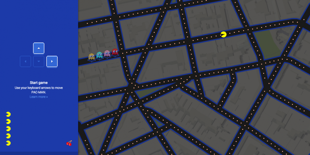 QUIT YOUR JOB RIGHT NOW And Start Playing Google Maps Pac-Man
