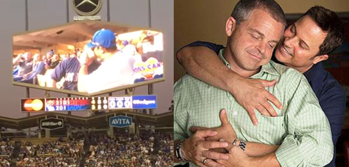 VIDEO: Gay Couple's Smooch On Dodgers' Kiss Cam Gets Wild Applause!