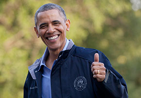 barack obama, gay blog, thumbs up, bisexual, smile