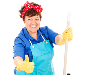 cleaning lady, maid, janitor, janitrix, gay blog, thumbs up, bisexual, smile