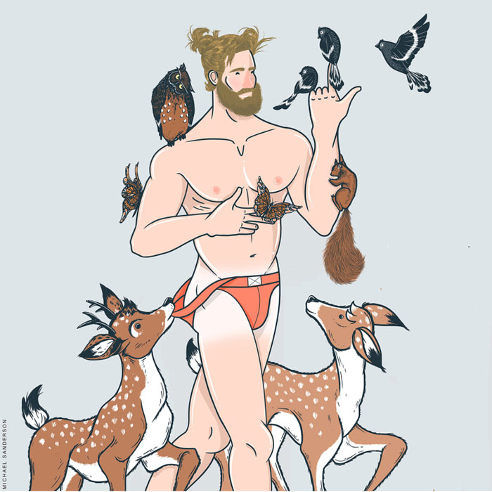leo, Michael Sanderson, Constellation Park, gay blog, drawings, art, prints, zodiac, horoscope
