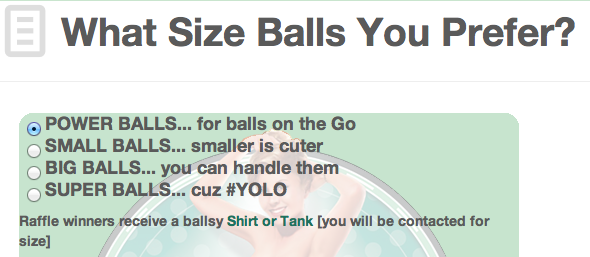What Size Balls?