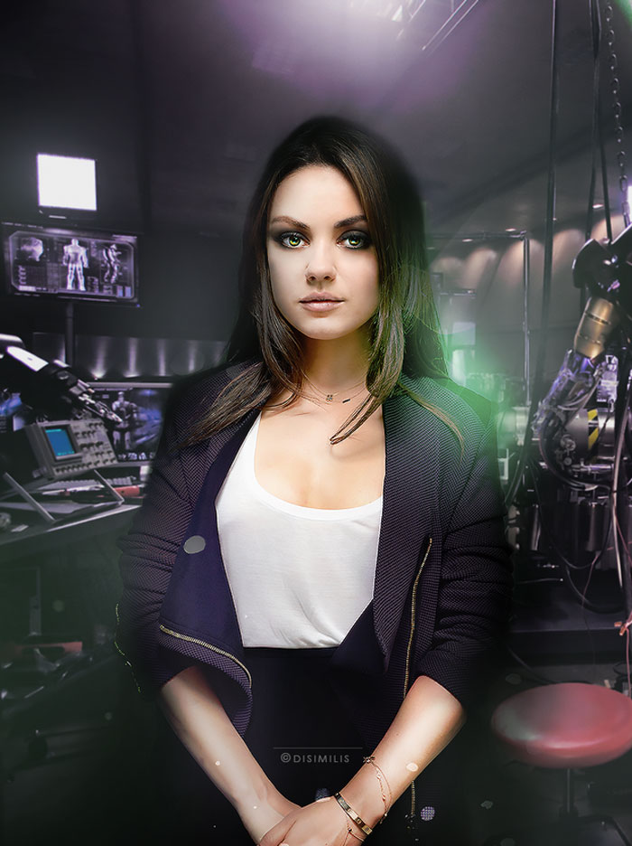 Mila Kunis, avengers, gender swap, hawkeye, loki, black widow, iron man, the hulk, dr. bruce banner, thor, captain america, gay blog, tumblr, lgbt, queer, women, superheroes, marvel